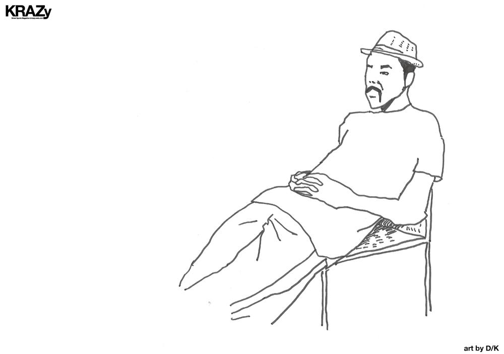 イラスト男線画