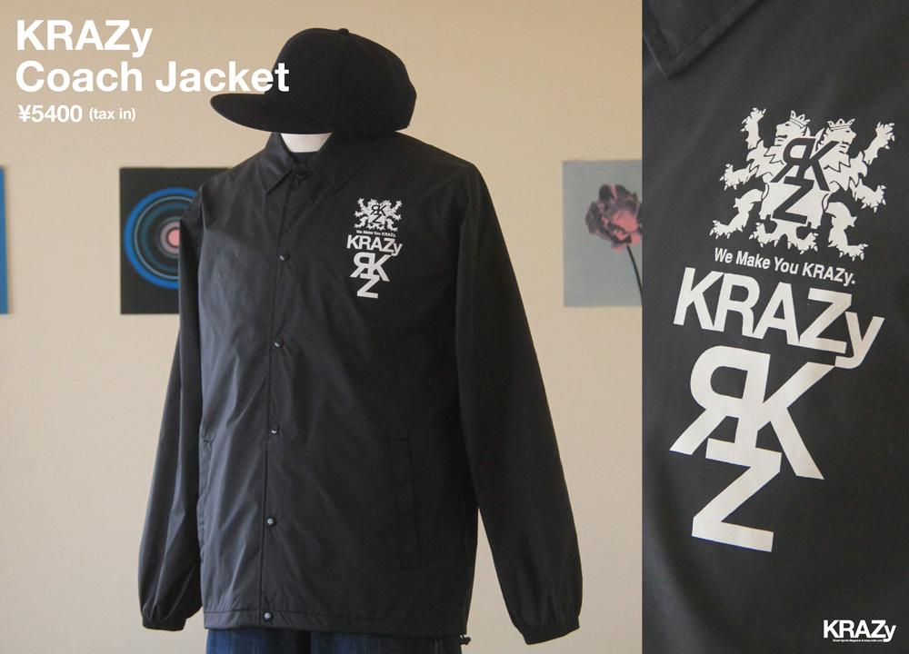 KRAZy Coach Jacket黒_最終_前