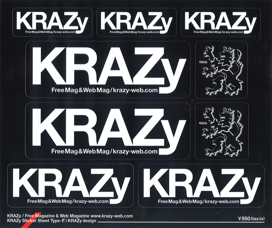 KRAZyブラックステッカー