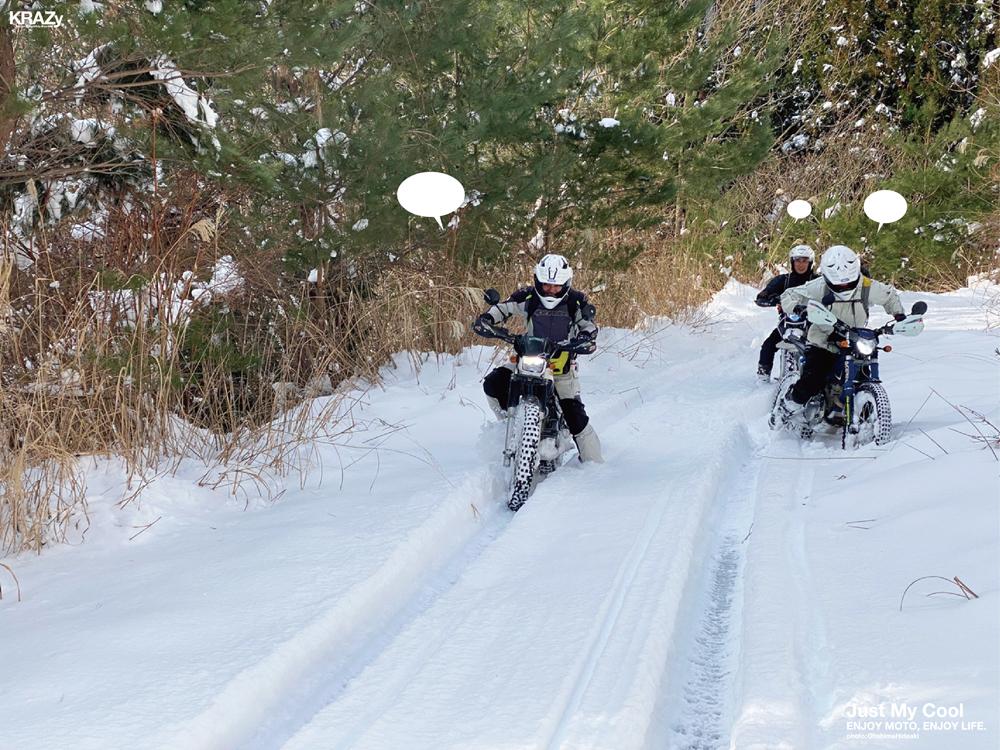 2雪の林道へいざ