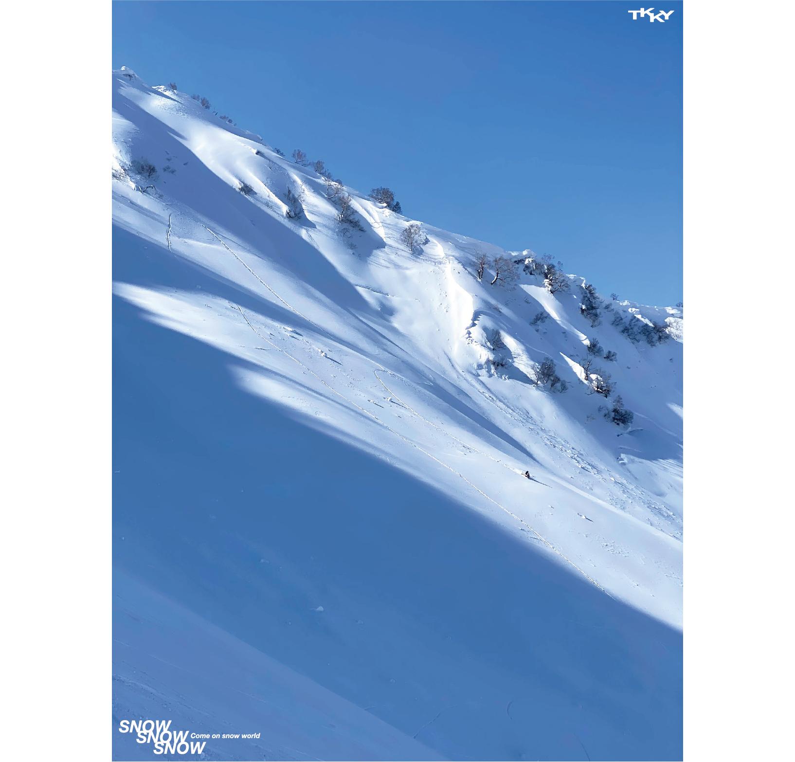 2斜面と山と雪原